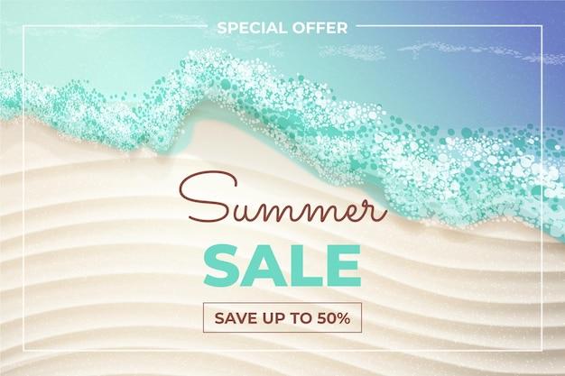 Ilustração realista de venda de verão olá