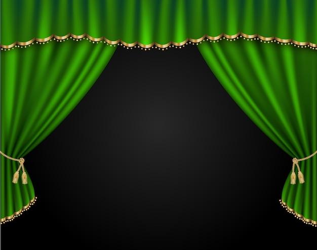 Ilustração realista de vetor de cortina