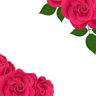 Ilustração realista de vetor de flores rosas