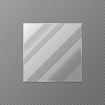 Ilustração realista de vidro quadrado