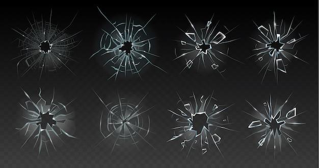 Ilustração realista de vidro rachado