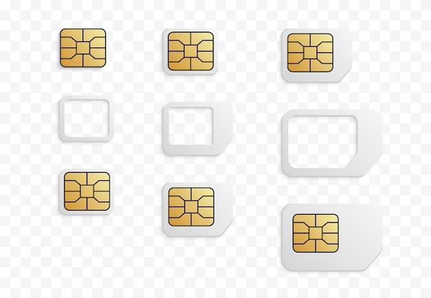 Ilustração realista do adaptador de cartão telefônico