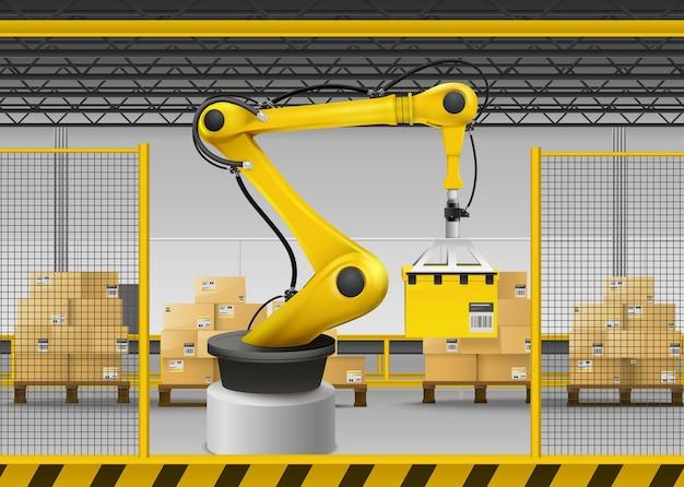 Ilustração realista do braço robótico