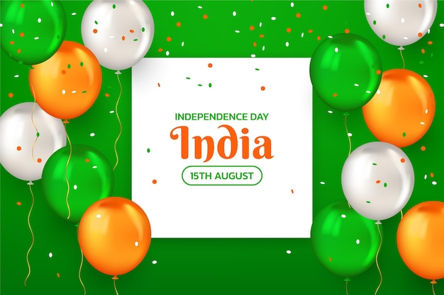 Ilustração realista do dia da independência da índia