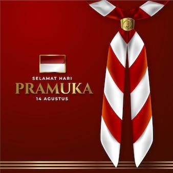 Ilustração realista do dia de pramuka