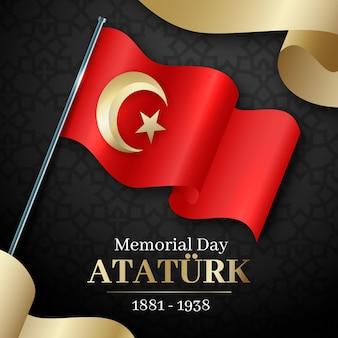 Ilustração realista do dia do memorial de ataturk