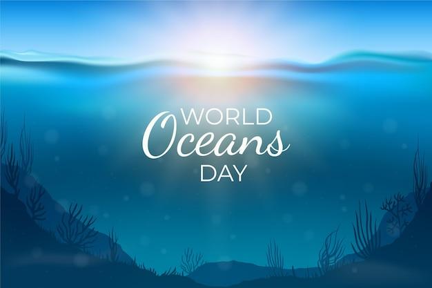 Ilustração realista do dia dos oceanos