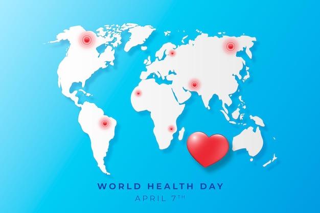 Ilustração realista do dia mundial da saúde