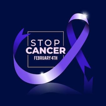 Ilustração realista do dia mundial do câncer