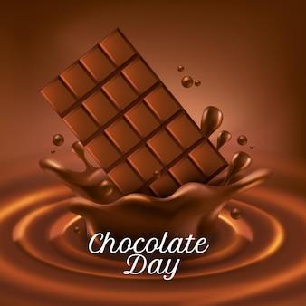 Ilustração realista do dia mundial do chocolate