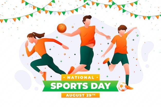 Ilustração realista do dia nacional de esportes