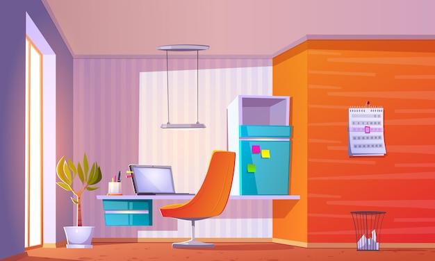 Ilustração realista do interior da sala