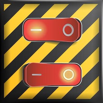 Ilustração realista do interruptor de alavanca