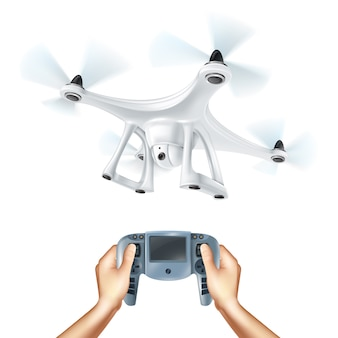 Ilustração realista drone