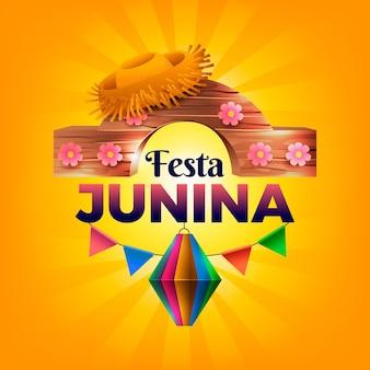 Ilustração realista festa junina