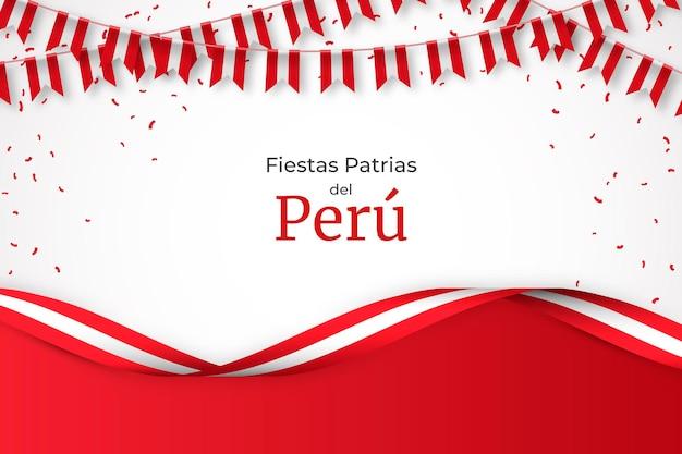 Ilustração realista fiestas patrias de peru
