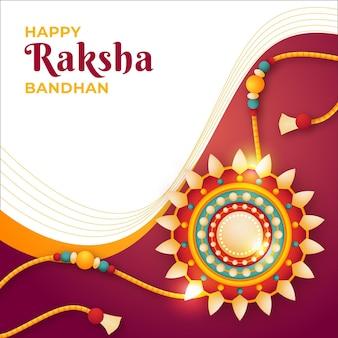 Ilustração realista raksha bandhan