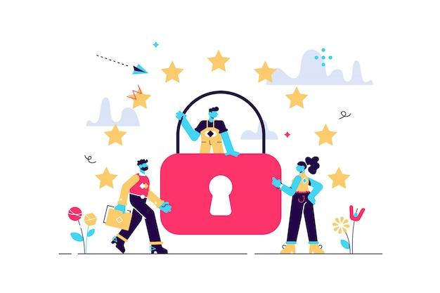 Ilustração. regras gerais para proteção de dados gdpr.