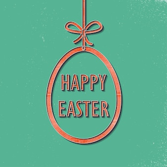 Ilustração retrô de ovo de páscoa para plano de fundo de férias. cartão de estilo vintage e criativo