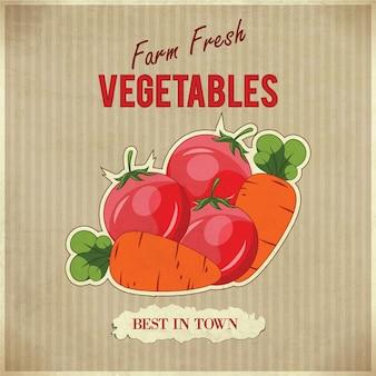 Ilustração retro de vegetais