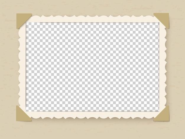 Ilustração retro do design da moldura da foto