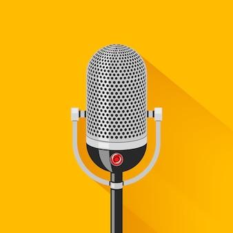 Ilustração retro do microfone de palco