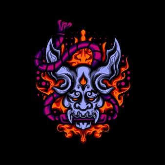 Ilustração sacred fire devil