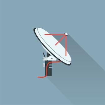 Ilustração, satélite, antena