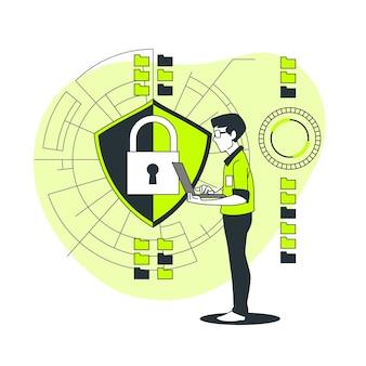 Ilustração segura do conceito de dados
