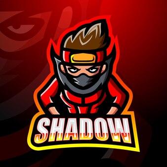 Ilustração shadow mascot esport