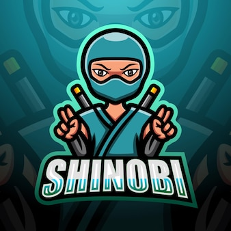 Ilustração shinobi mascote esport