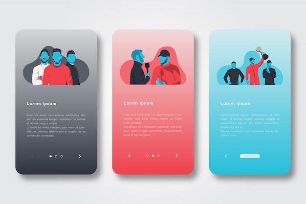 Ilustração simples app de integração