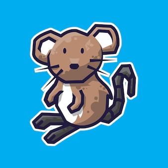 Ilustração simples de animal rato