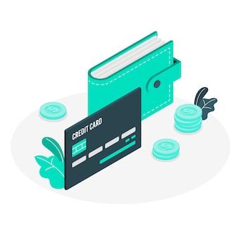 Ilustração simples do conceito de cartão de crédito