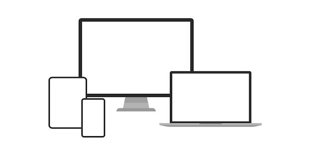 Ilustração simples do conjunto de dispositivos.