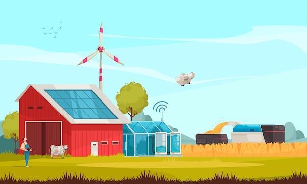 Ilustração smart farm