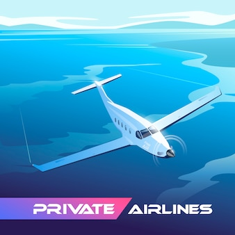 Ilustração sobre o tema da viagem de avião