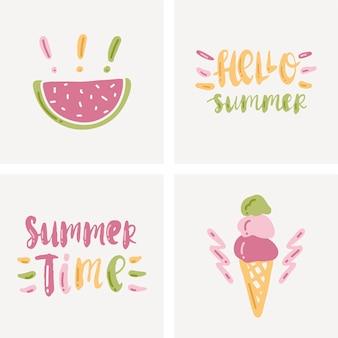 Ilustração sobre o verão