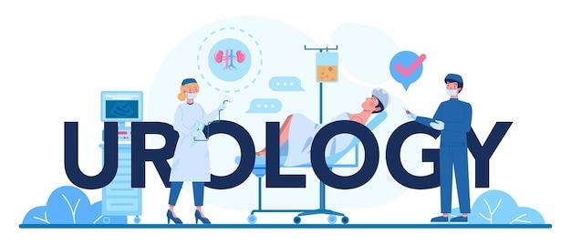 Ilustração tipográfica de urologia.
