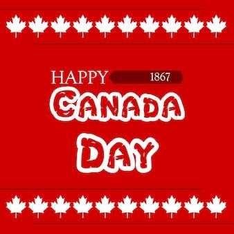 Ilustração tipográfica. vetor. feliz dia do canadá.