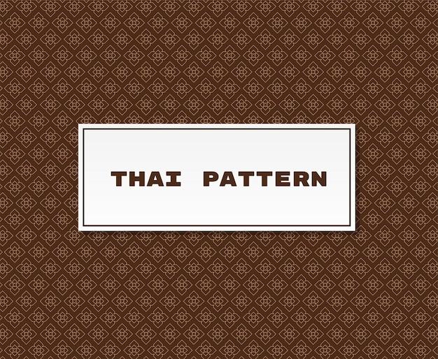 Ilustração tradicional de padrão tailandês