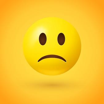 Ilustração triste do rosto emoji