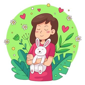 Ilustração vegana e livre de crueldade desenhada à mão