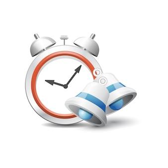 Ilustração vetorial 3d despertador