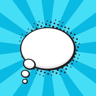 Ilustração vetorial balão de quadrinhos de pensamentos em forma oval no estilo pop art