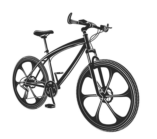 Ilustração vetorial bicicleta moden isolada no fundo branco