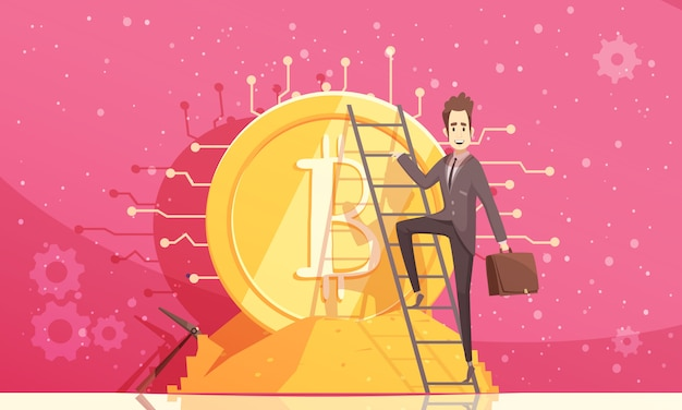 Ilustração vetorial bitcoin