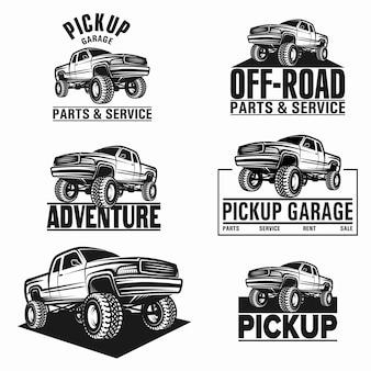 Ilustração vetorial, caminhonete 4x4 pickup
