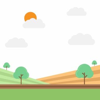 Ilustração vetorial campo agrícola