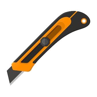 Ilustração vetorial. canivete de construção em design plano isolado no fundo branco
